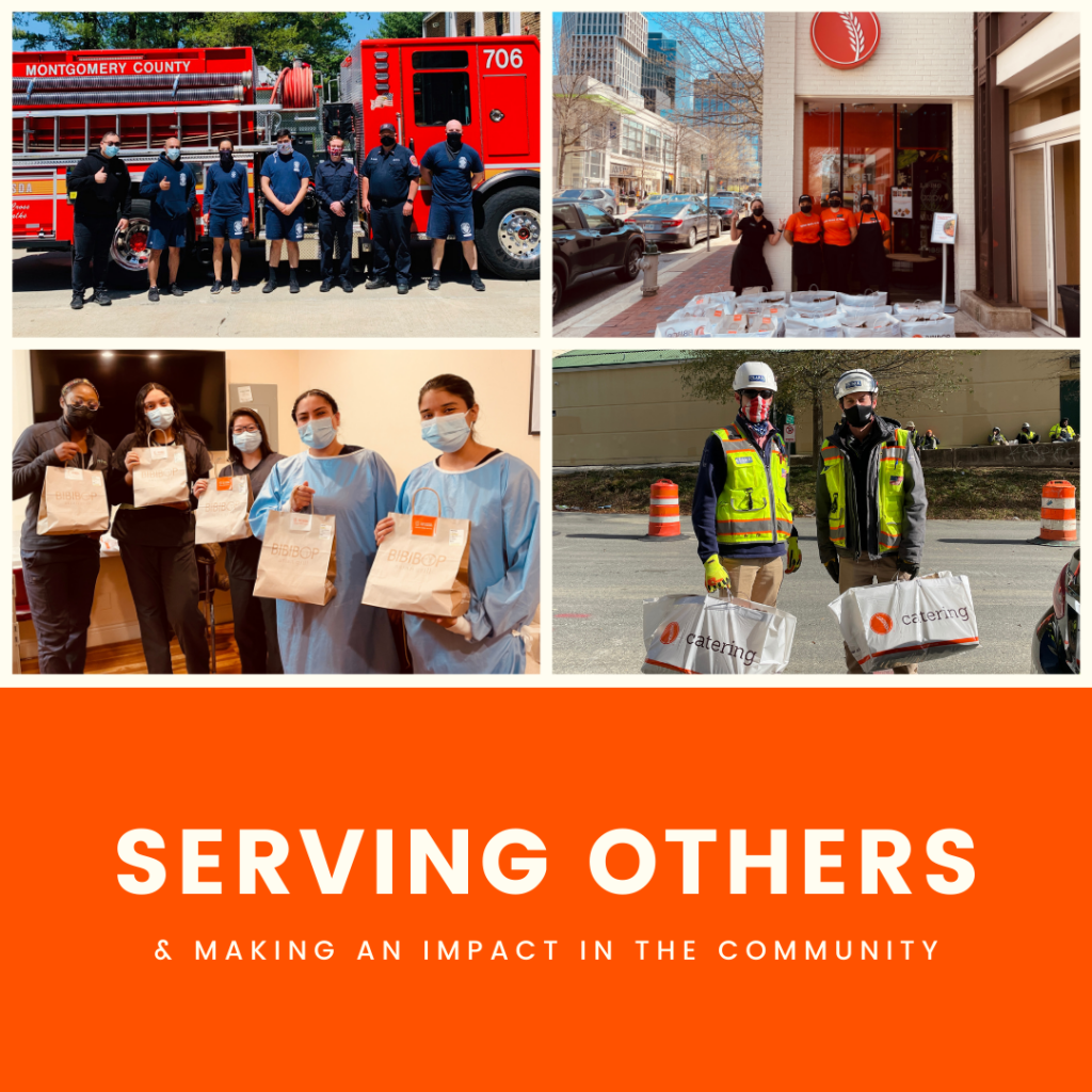 Serving others and making an impact in the community.