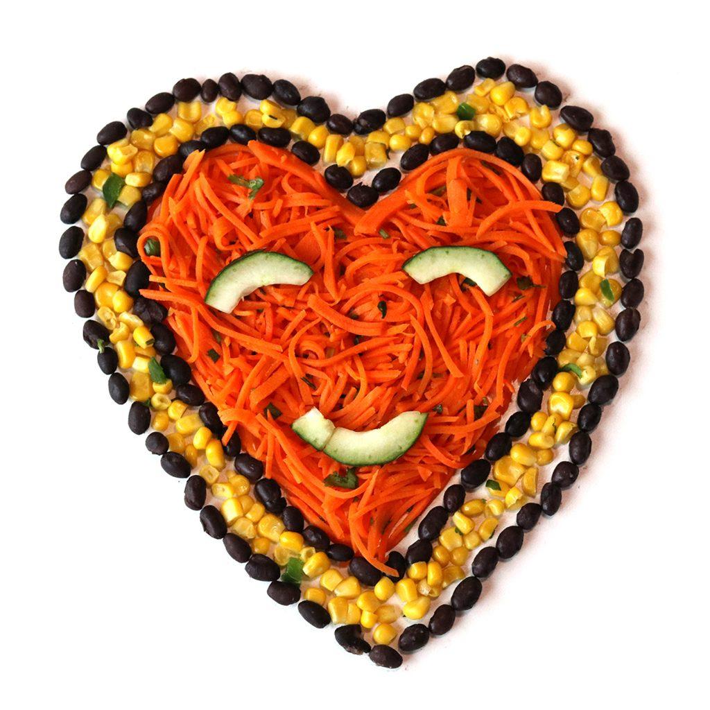 food heart face