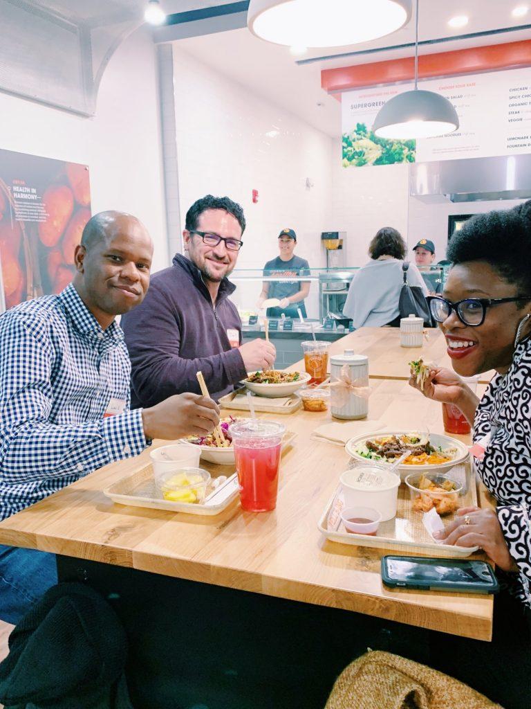 Bibibop friends eating