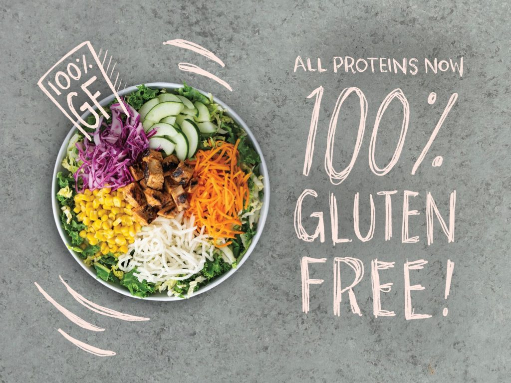 All proteins at BIBIBOP Asian Grill are now gluten-free