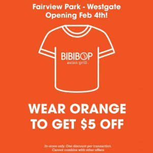 Fairview Park - Westgate Opening Feb 4th! Wear Orange to get $5 off.