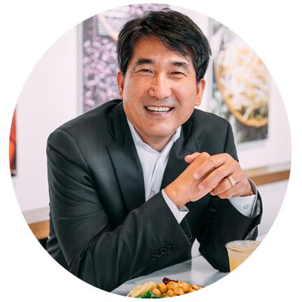 Headshot of Charley Shin, Founder & CEO or BIBIBOP Asian Grill